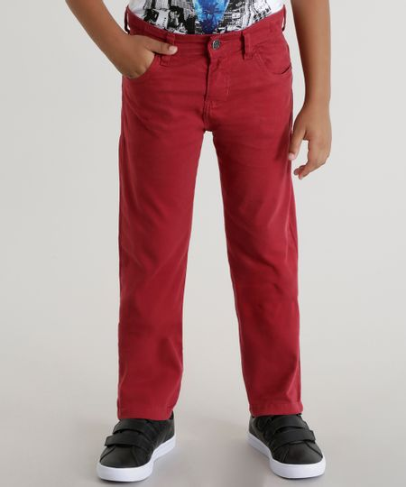 Calça Slim Vermelha
