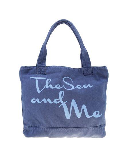 Bolsa Shopper Azul Marinho