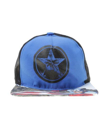 Boné Capitão América Azul