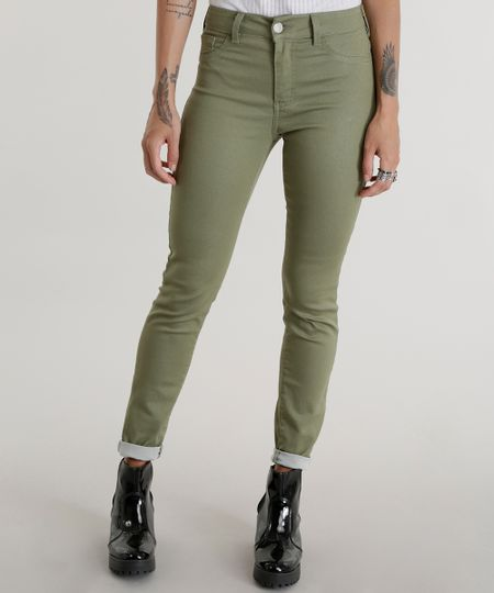 Calça Super Skinny Energy Jeans Verde