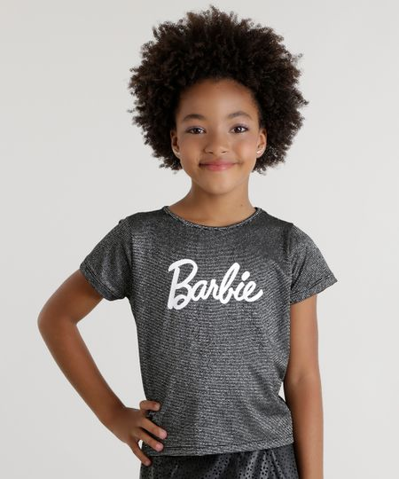 Blusa Barbie com Brilho Preta