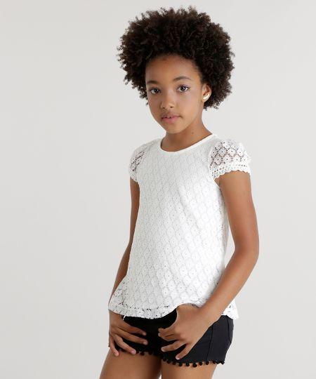 Blusa em Renda Off White