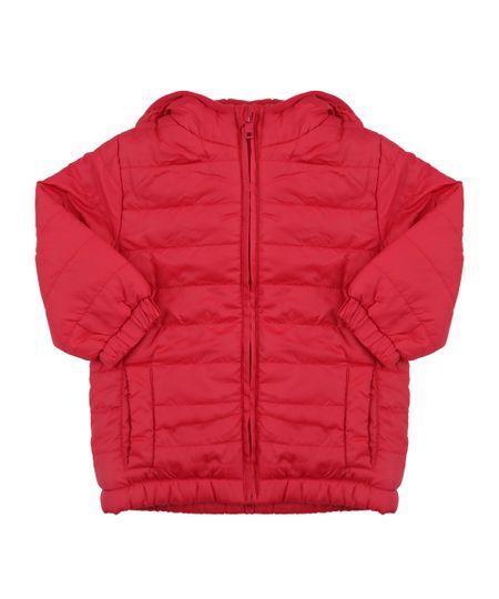 Jaqueta com Matelassê Vermelha