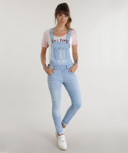 Macacão Jeans Azul Claro