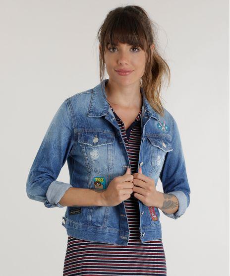 Jaqueta-Jeans-Looney-Tunes-Azul-Medio-8565064-Azul_Medio_1