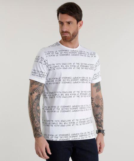 Camiseta Estampada  Branca