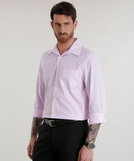 Camisa Comfort Rosa Claro