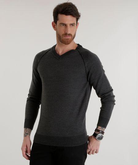 Suéter em Tricô Chumbo