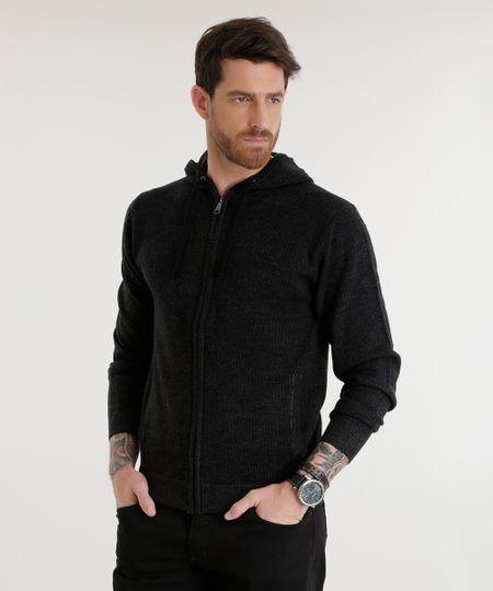 Jaqueta em Tricô Preta