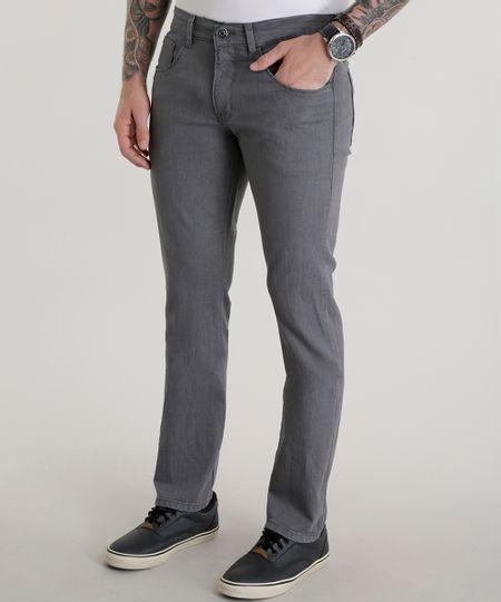 Calça Jeans Slim  Cinza