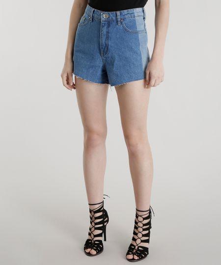 Short Jeans Hot Pant Pat Pat's Azul Médio