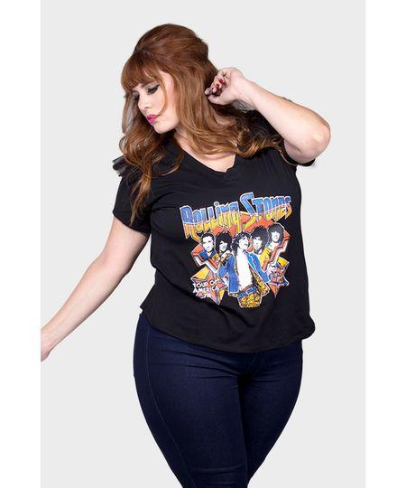 Camiseta Rolling Stones Plus Size