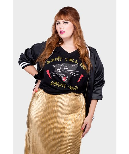 Camiseta Rocker Cat Plus Size