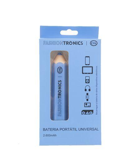 Carregador Bateria Portátil Universal Azul