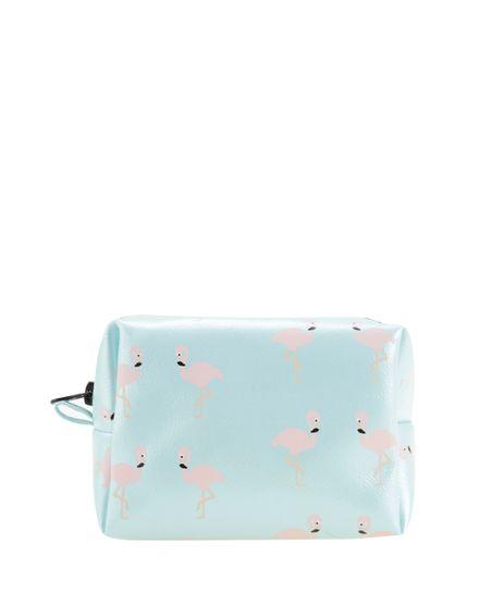 Necessaire-Estampada-de-Flamingos-Azul-Claro-8562920-Azul_Claro_1