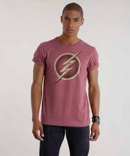Camiseta Flash Vinho