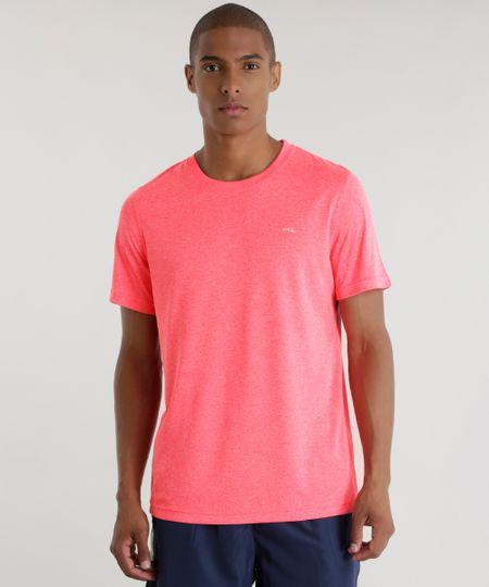 Camiseta Ace Basic Dry Rosa Flúor