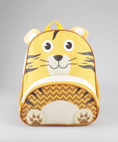Mochila Unissex Tigre Amarela