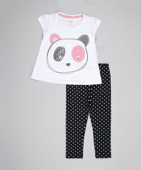 Conjunto-de-Blusa--Urso--Branca---Calca-Estampada-Preta-8561912-Preto_1