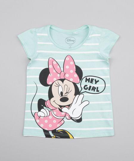 Blusa Minnie Listrada Verde Claro