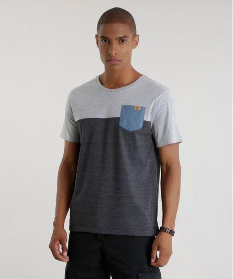 Camiseta-com-Bolso-Cinza-Mescla-Escuro-8451632-Cinza_Mescla_Escuro_1