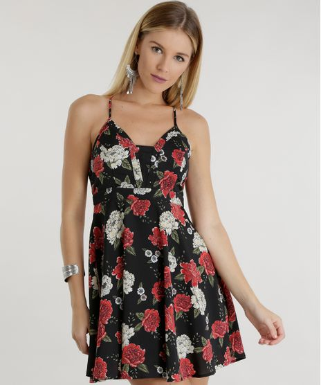 Vestido-Estampado-Floral--Preto-8461181-Preto_1