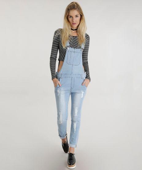 Macacao jardineira jeans feminino c a for Jardineira jeans feminina c a
