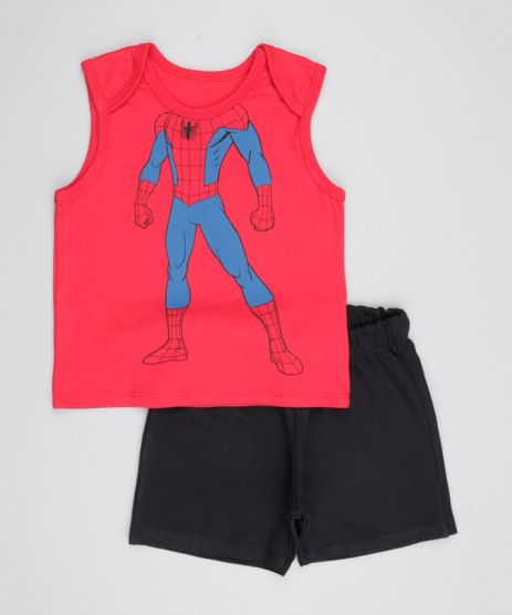 Conjunto-de-Regata-Homem-Aranha-Vermelha---Short--Preto-8577799-Preto_1