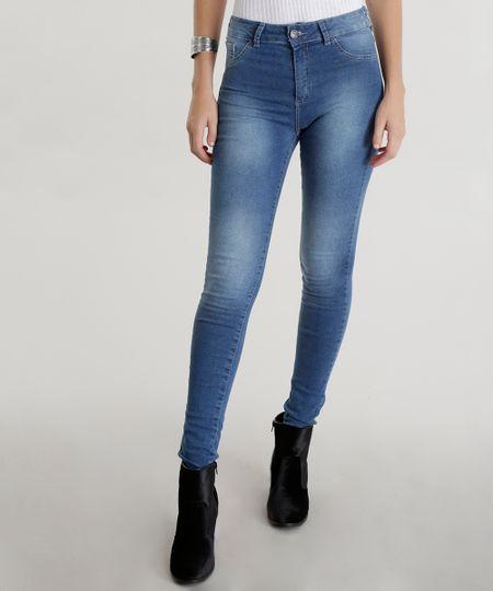 Calça Super Skinny Energy Jeans Azul Médio