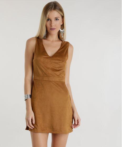 Vestido-em-Suede--Caramelo-8500913-Caramelo_1