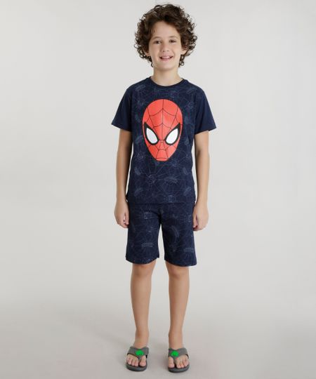 Pijama Homem Aranha Azul Marinho