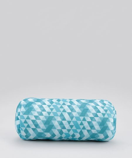 Almofada Estampada Geométrica Azul Claro