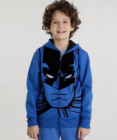 Blusão Batman em Moletom Azul