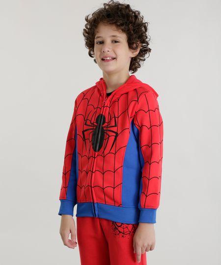 Blusão Homem Aranha em Moletom Vermelho