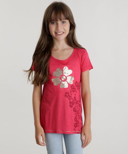 Blusa com Paetês Pink