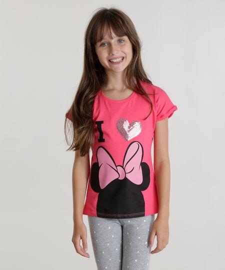 Blusa Minnie com Paetê Pink