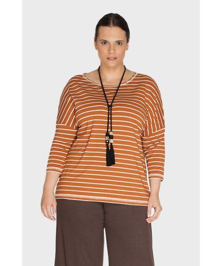 Blusa Listrada Plus Size