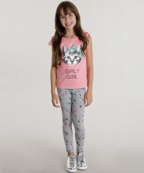 Conjunto-de-Blusa-Rosa---Calca-Legging-Estampada-Cinza-Mescla-8579518-Cinza_Mescla_1