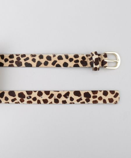 Cinto Animal Print Bege
