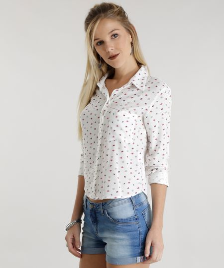 Camisa Estampada Off White