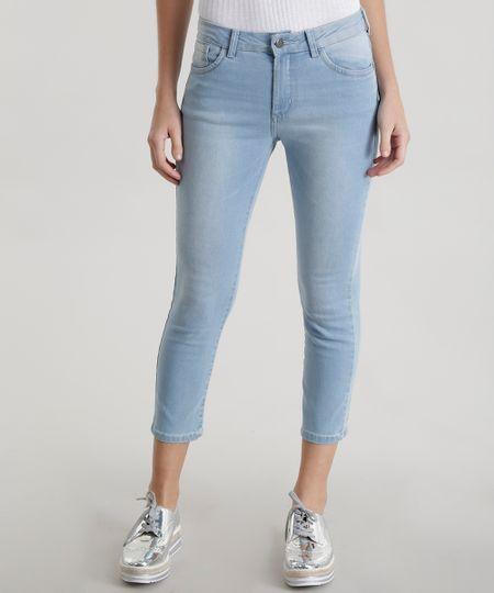 Calça Jeans Capri Azul Claro