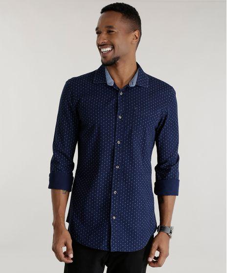 Camisa-Slim-Estampada-Azul-Marino-8443242-Azul_Marino_1