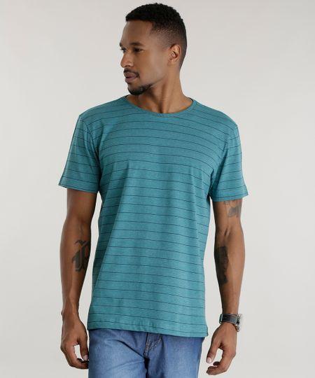 Camiseta Listrada Verde