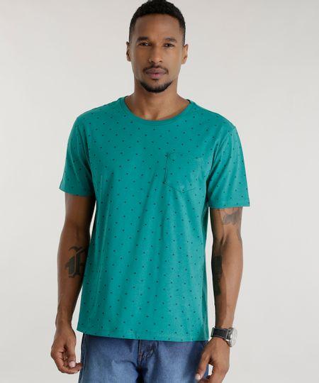Camiseta Estampada Verde