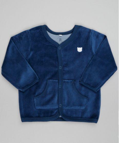 Cardigan-em-Plush-de-Algodao---Sustentavel-Azul-Marinho-8498070-Azul_Marinho_1