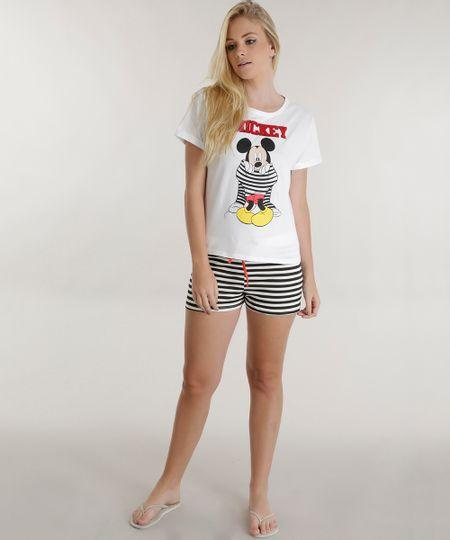 Pijama Mickey Off White
