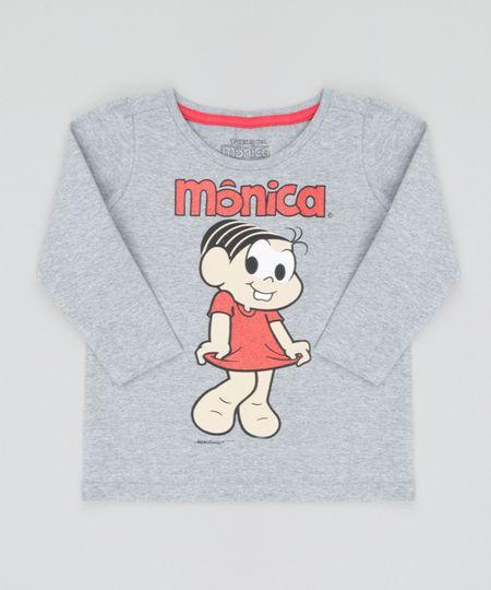 Blusa Mônica Cinza Mescla