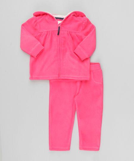 Conjunto de Blusão + Calça em Plush de Algodão + Sustentável Pink