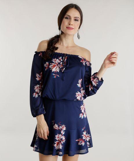 Vestido-Ombro-a-Ombro-Estampado-Floral-Azul-Marinho-8601886-Azul_Marinho_1