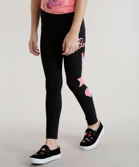 Calça Legging Barbie Preta